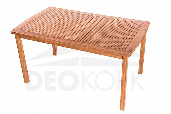 Záhradný pevný stôl obdĺžnik HARMONY 146x90 cm (teak)