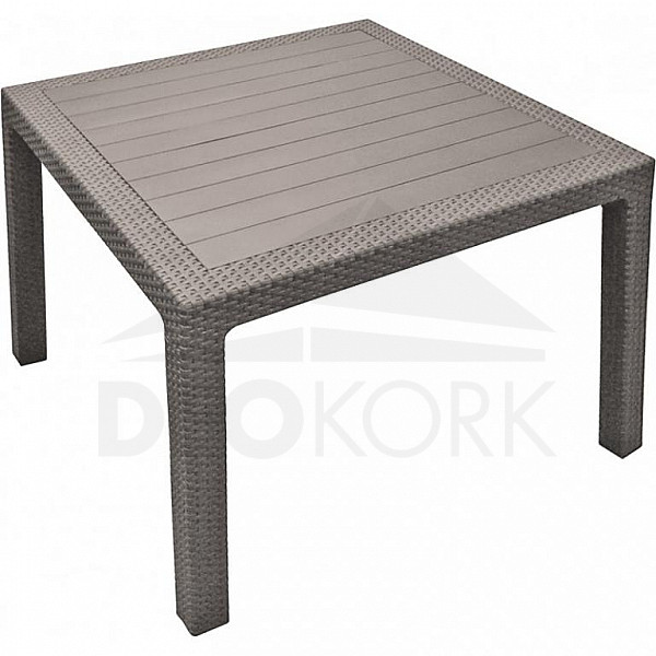 Záhradný stôl z umelého ratanu MANHATTAN 95x95 cm (biela)