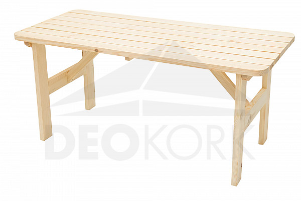 Záhradný skládací stôl ILLA 70x70 cm (teak)