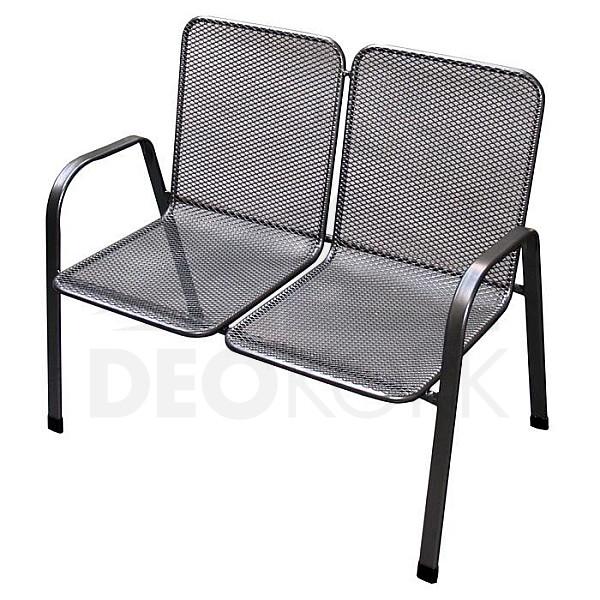 Kovová stolička Sága dvojitá (dubl)