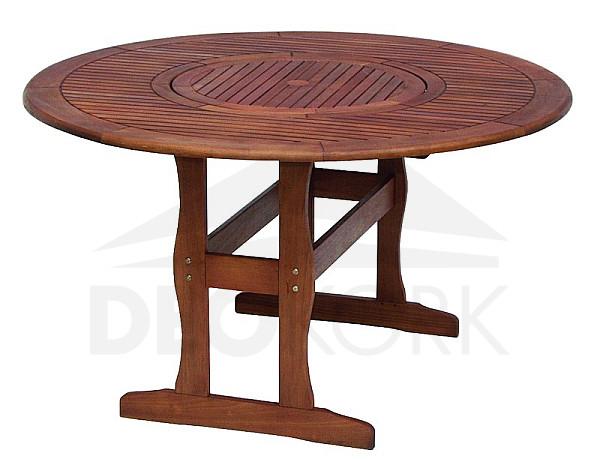 Záhradný stôl kruhový MALAGA s otočnou táckou