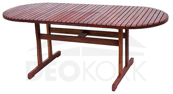 Záhradný rozkladací stôl oválny BORDEAUX