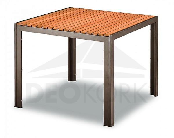 Záhradný stôl TAM03702-90x90 (90 x 90 cm) hnedá