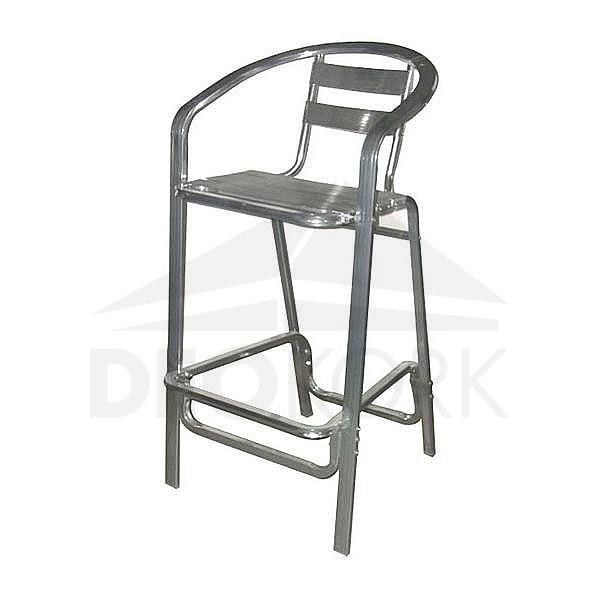 Barová hliníková stolička MC 014