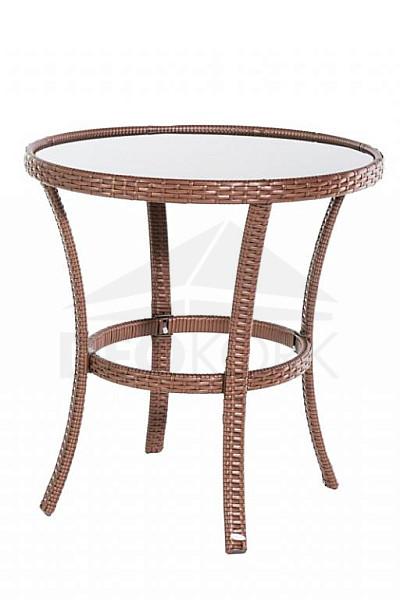 Deokork Zahradný stôl z umelého ratanu BERN (? 80 cm)