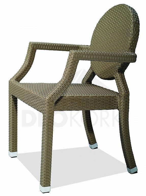 Záhradná ratanová stolička C78273-1