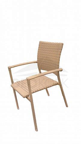 Záhradná stolička béžová C88101 BL