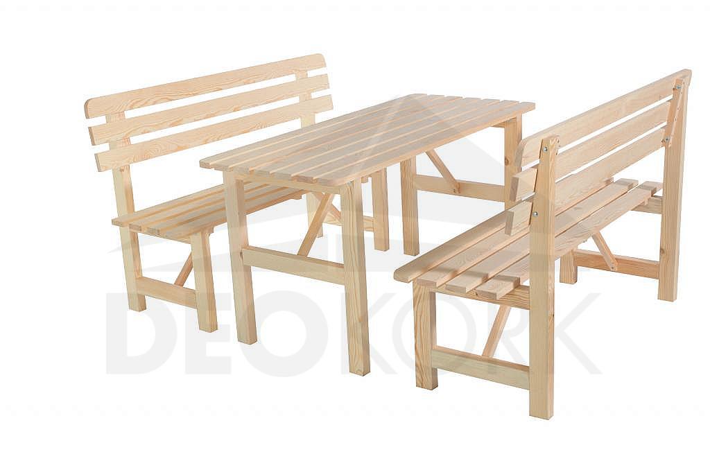 Masívna drevená záhradná zostava z borovice 1+2 drevo 22 mm