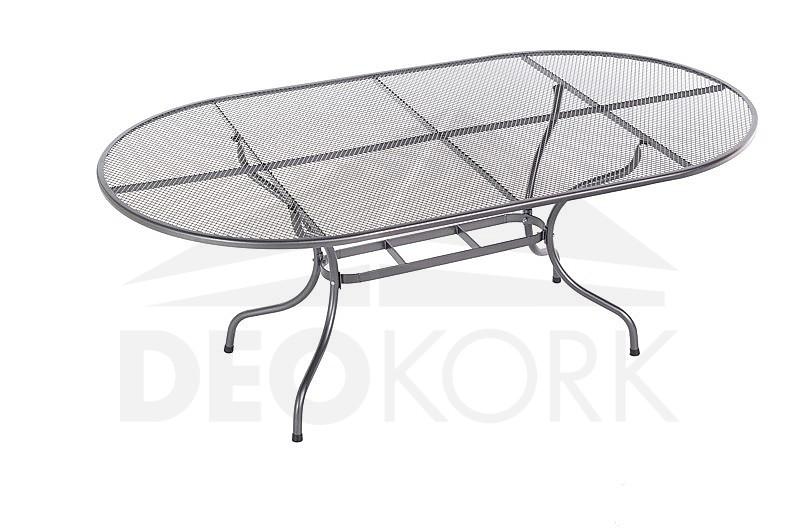 Kovový stôl oválny 190 x 105 cm