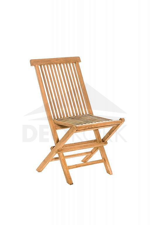 Záhradná skladacia stolička s poduškou FOXI (teak)