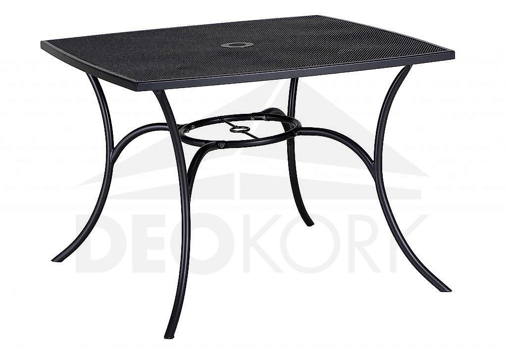 Kovový stôl QUADRA 100x100 cm (čierna)