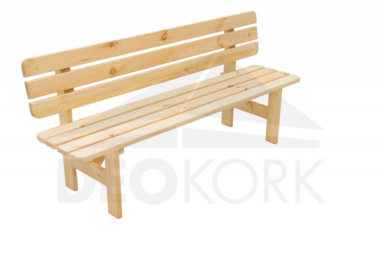 Masívna lavica z borovice drevo 30 mm (rôzne dĺžky)