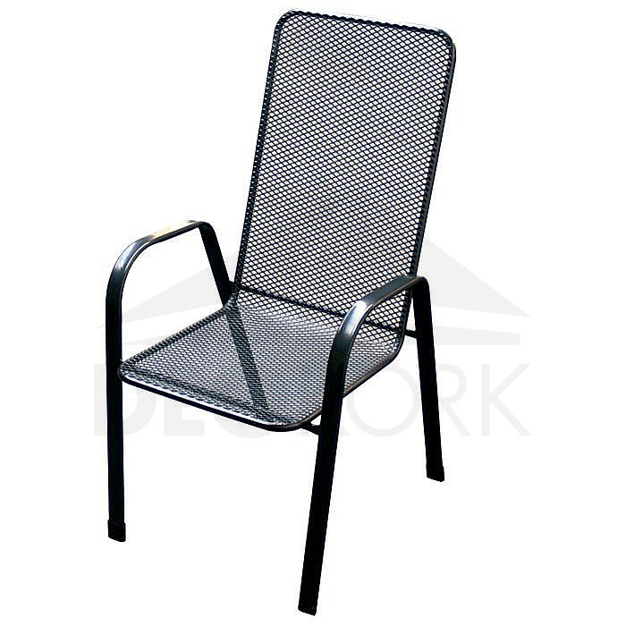 Kovová stolička Sága vysoká