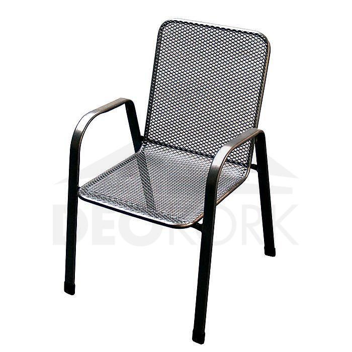 Kovová stolička Sága nízká
