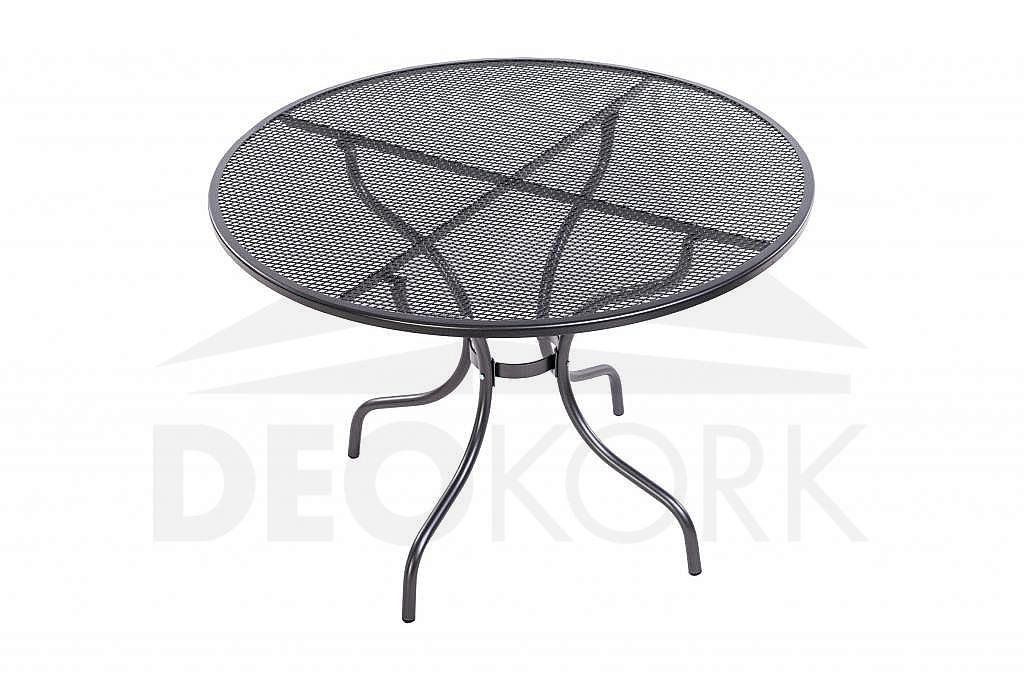 Kovový stôl bez otvoru pre slnečník ?105 cm