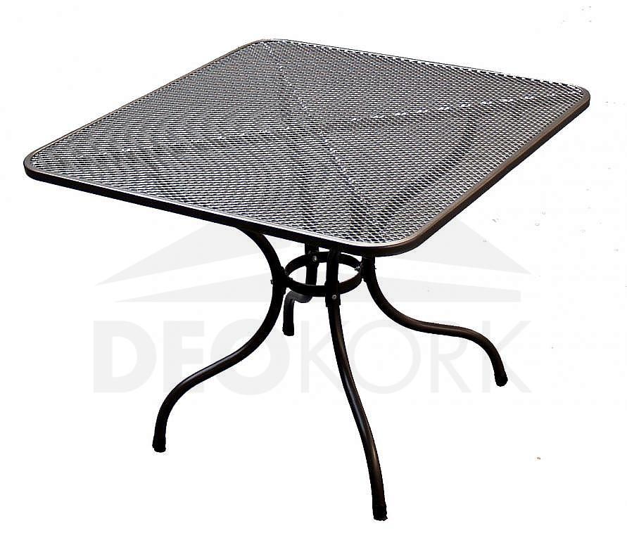 Kovový stôl 105 x 105 cm