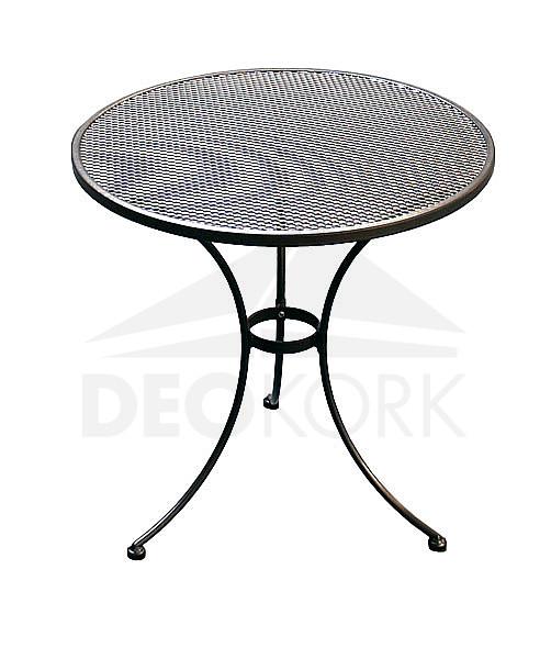 Kovový stôl guľatý ? 70 cm