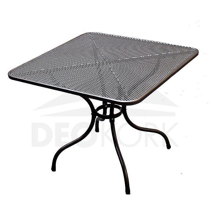 Kovový stôl  90 x 90 cm