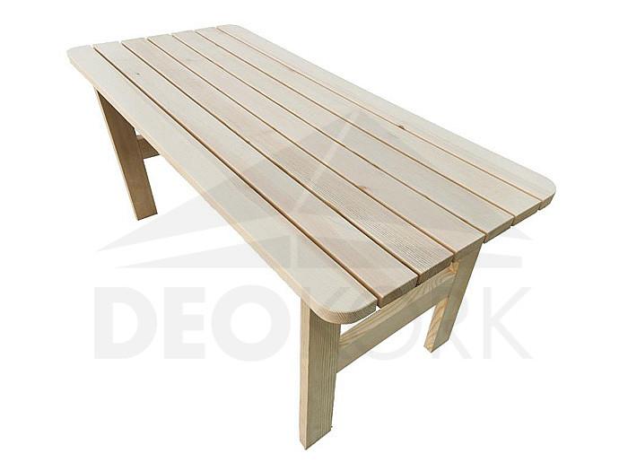 Masívny drevený záhradný stôl z borovice drevo 32 mm