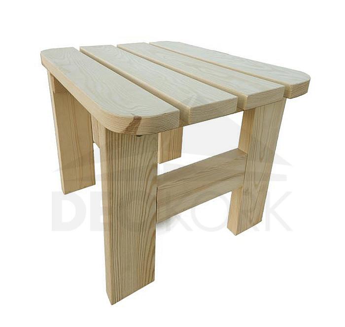 Masívna drevená záhradná stolička z borovice drevo 32 mm