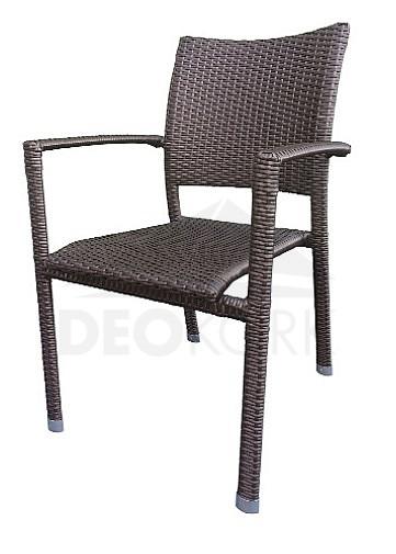 Záhradná stolička hnedá C88101 JB