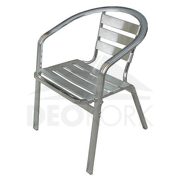 Záhradná hliníková stolička MC 016