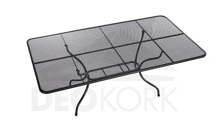 Kovový stôl obdĺžnik 145 x 90 cm