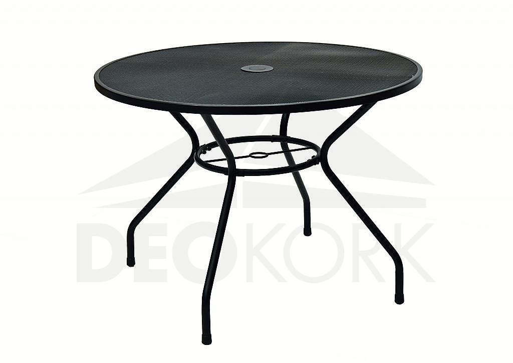 Kovový stôl TAMPA ? 100 cm (čierna)