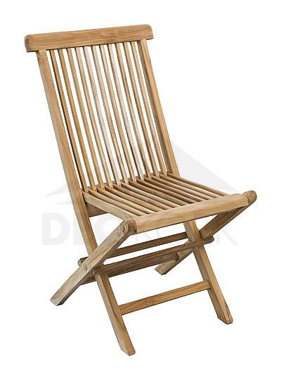 Záhradná stolička skladacia teak MILÁN