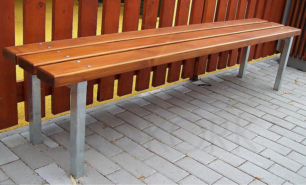 Parková lavica bez opierky JENNY